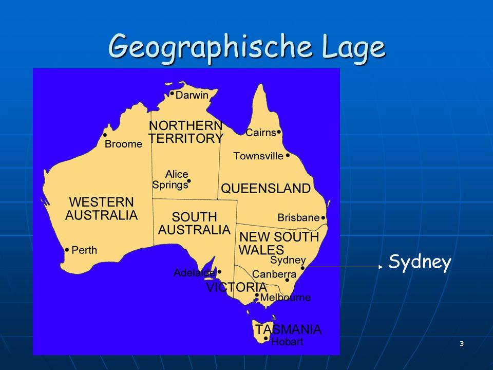 Geographische Lage Sydney