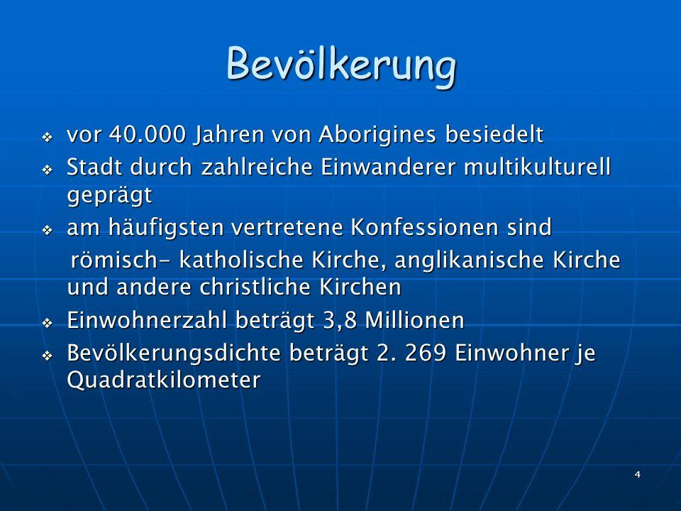 Bevölkerung vor 40.000 Jahren von Aborigines besiedelt