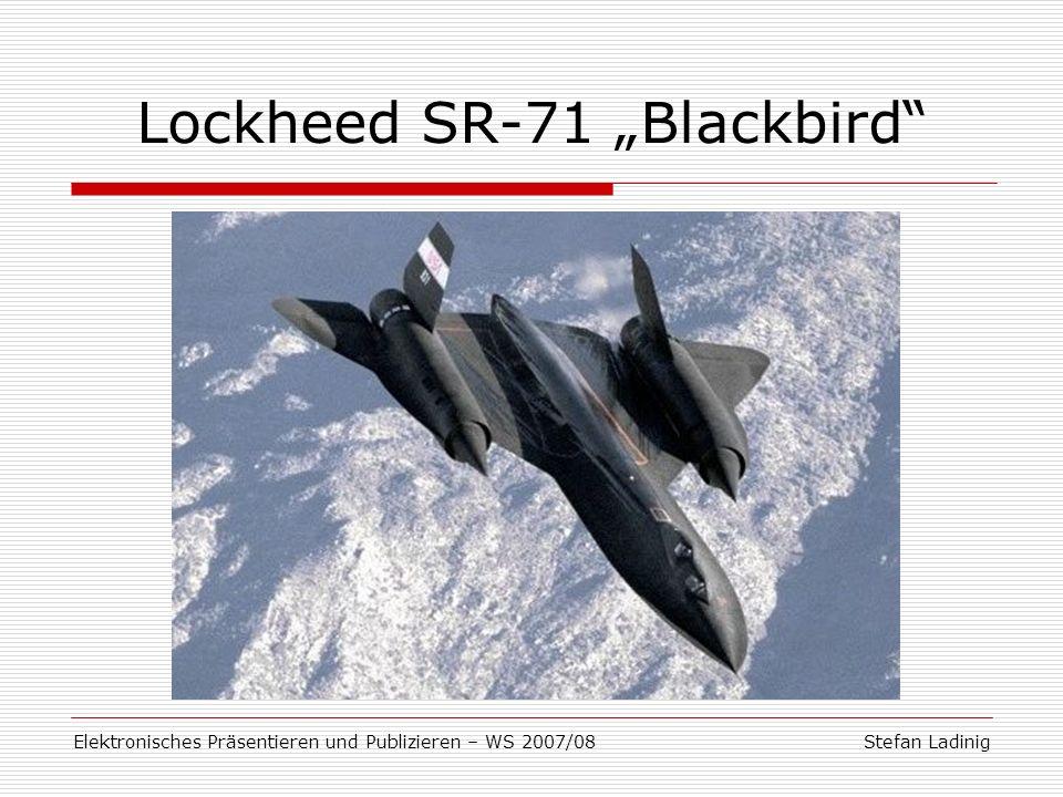 "Lockheed SR-71 ""Blackbird"
