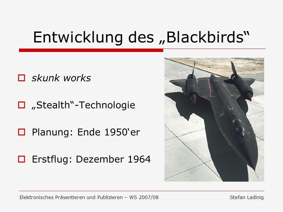 """Entwicklung des """"Blackbirds"""