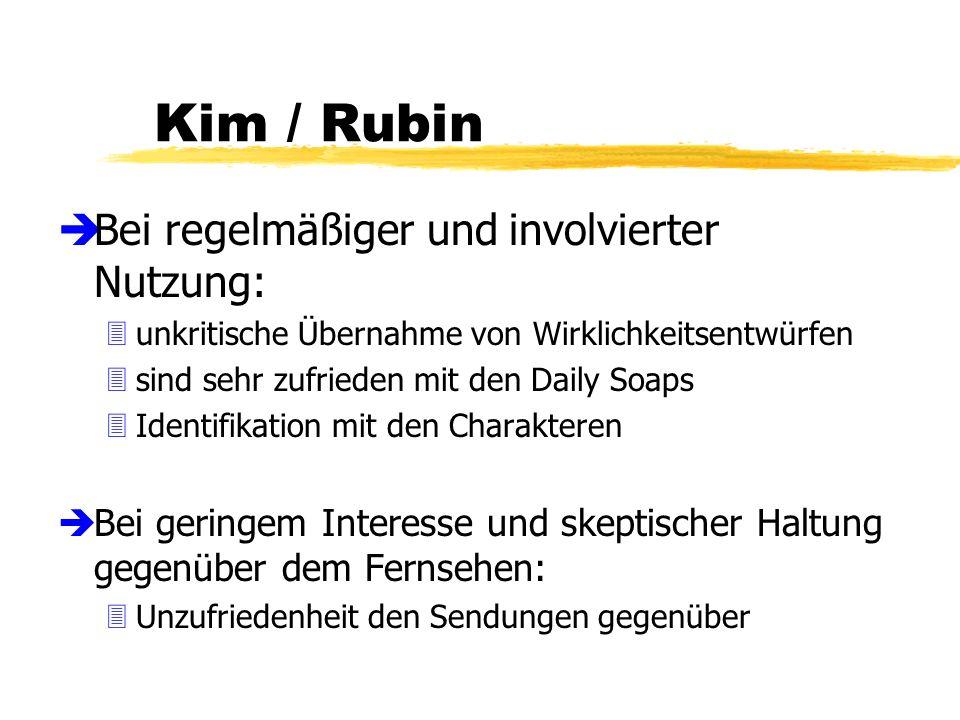 Kim / Rubin Bei regelmäßiger und involvierter Nutzung: