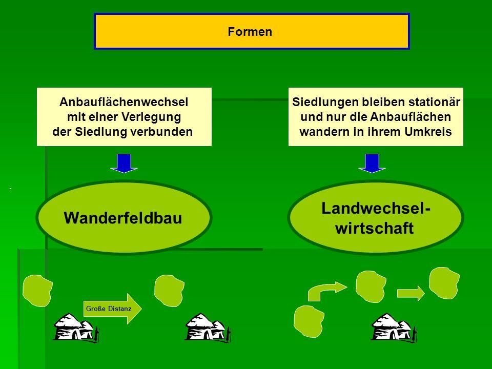 Landwechsel- Wanderfeldbau wirtschaft Formen Anbauflächenwechsel