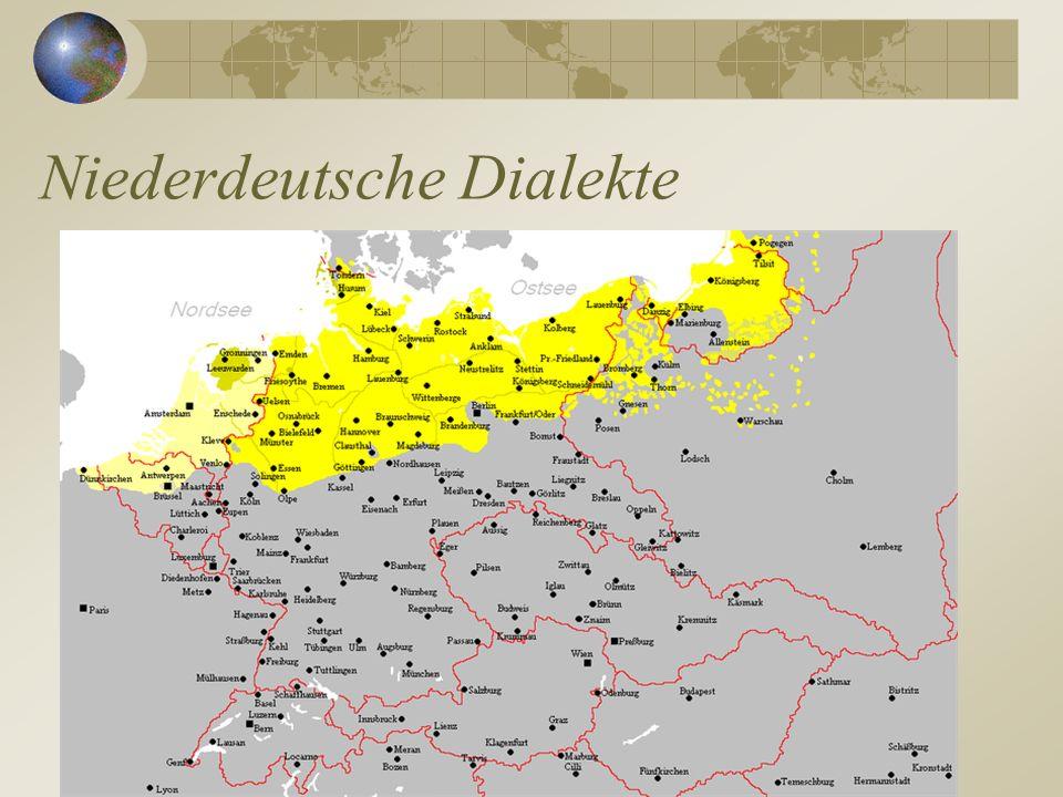 Niederdeutsche Dialekte