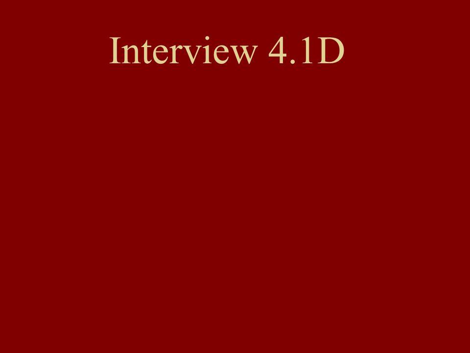 Interview 4.1D