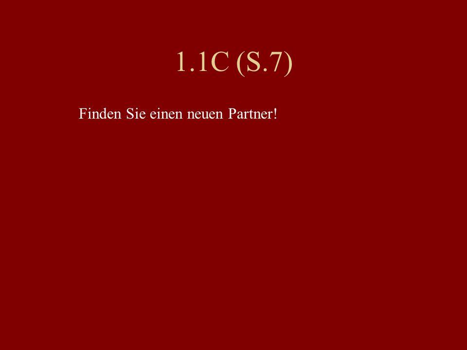 1.1C (S.7) Finden Sie einen neuen Partner!