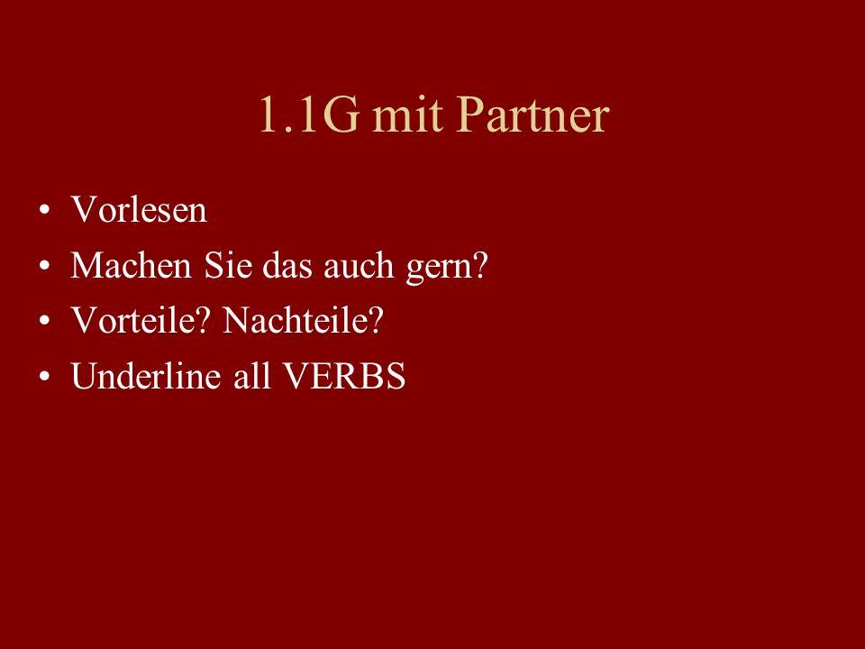 1.1G mit Partner Vorlesen Machen Sie das auch gern
