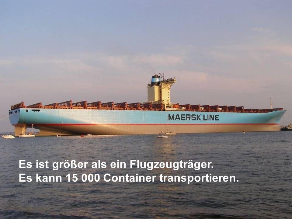 Es ist größer als ein Flugzeugträger