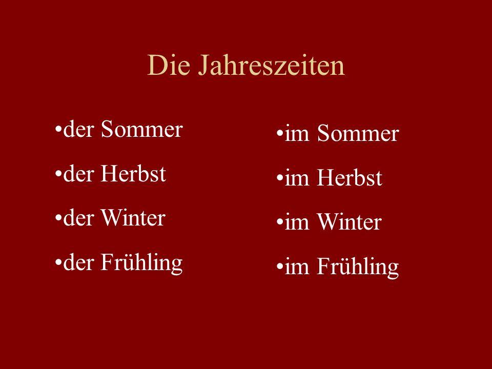 Die Jahreszeiten der Sommer im Sommer der Herbst im Herbst der Winter