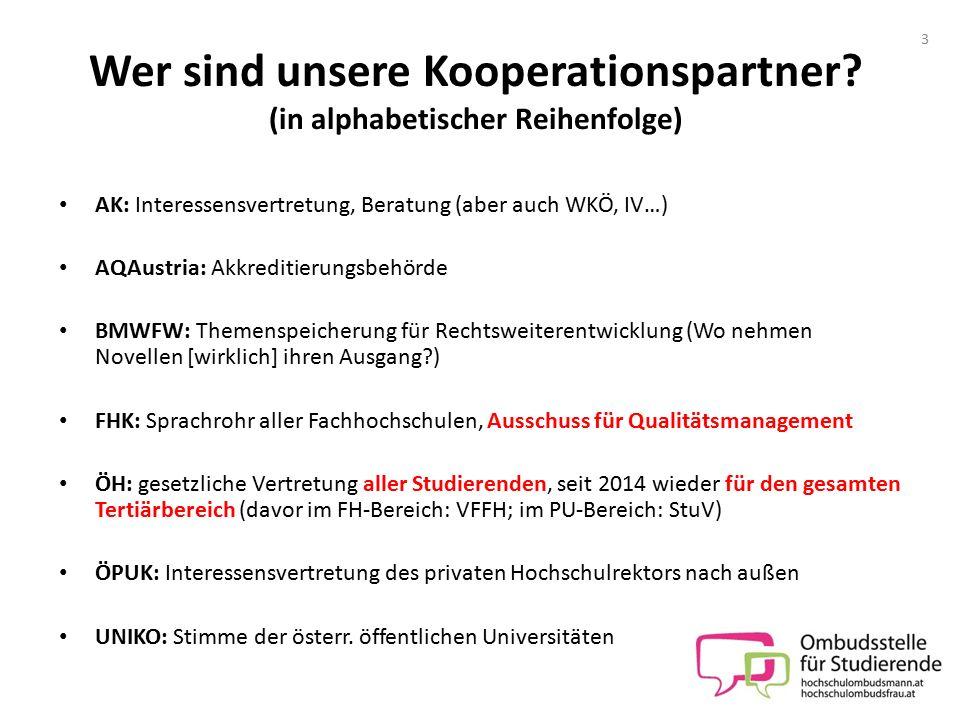 Wer sind unsere Kooperationspartner (in alphabetischer Reihenfolge)