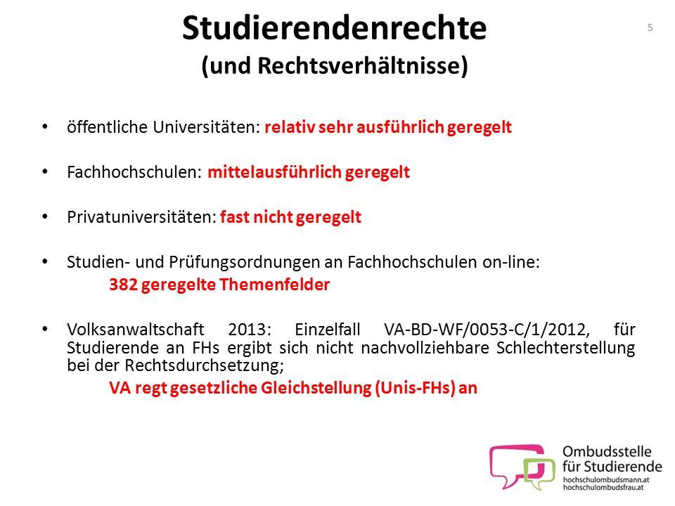 Studierendenrechte (und Rechtsverhältnisse)