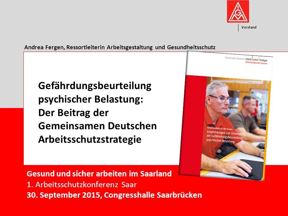 Andrea Fergen, Ressortleiterin Arbeitsgestaltung und Gesundheitsschutz