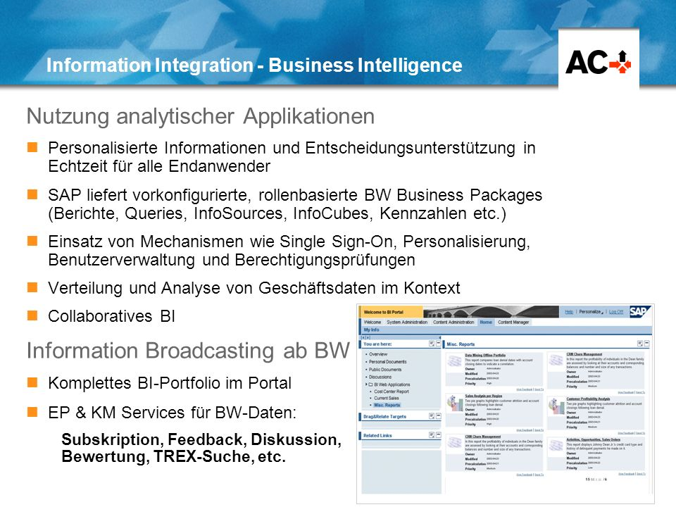 Information Integration - Business Intelligence