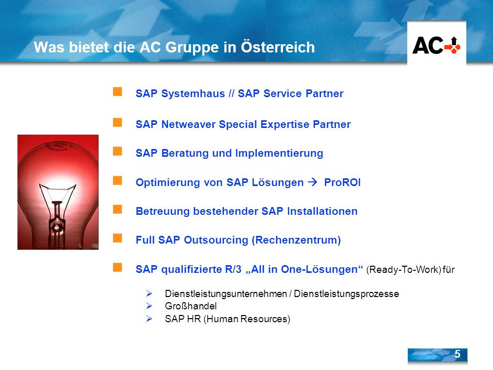 Was bietet die AC Gruppe in Österreich
