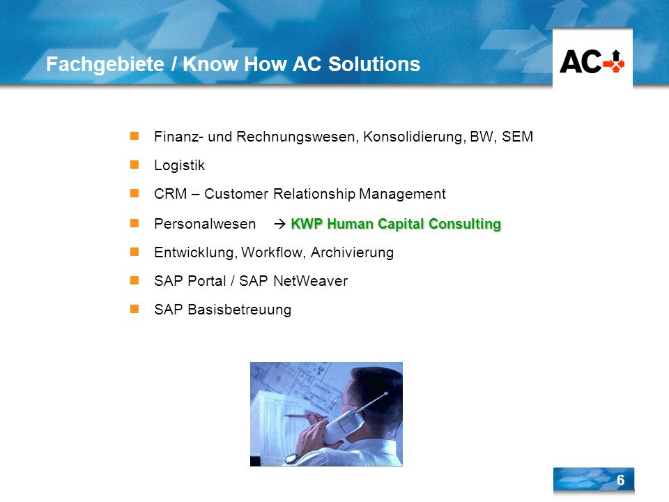 Fachgebiete / Know How AC Solutions