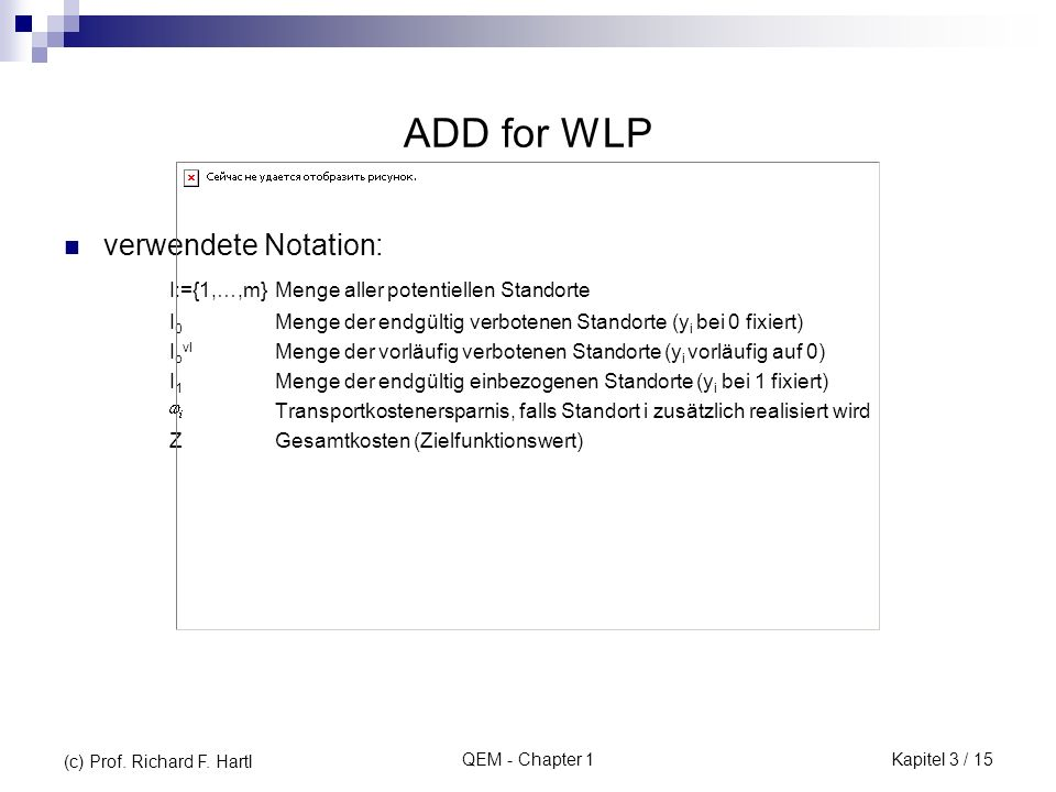 ADD for WLP verwendete Notation:
