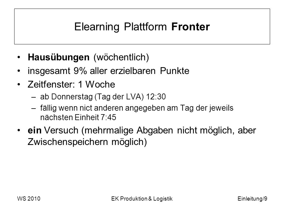 Elearning Plattform Fronter