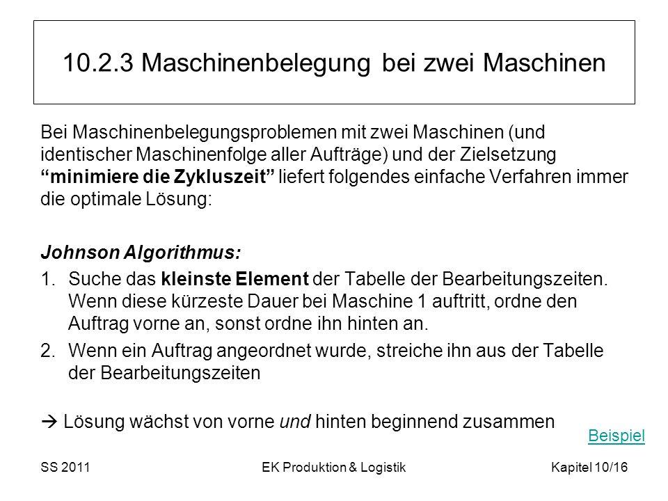 10.2.3 Maschinenbelegung bei zwei Maschinen
