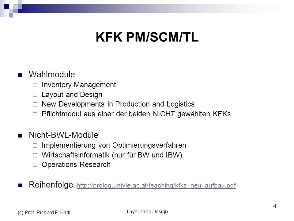 KFK PM/SCM/TL Wahlmodule Nicht-BWL-Module