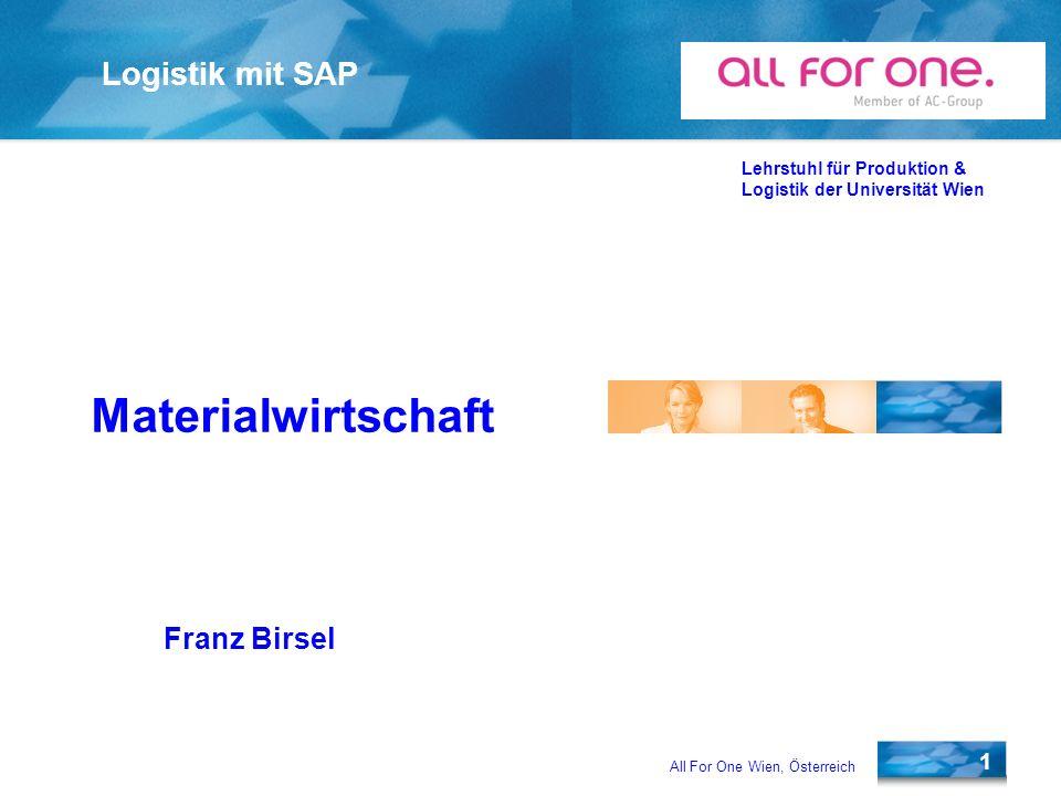 Materialwirtschaft Franz Birsel