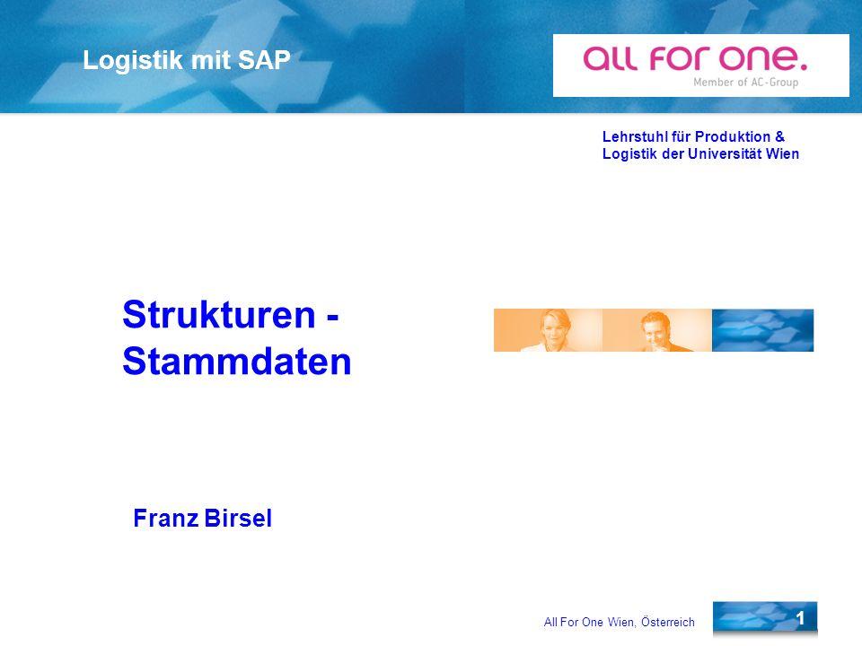 Strukturen - Stammdaten