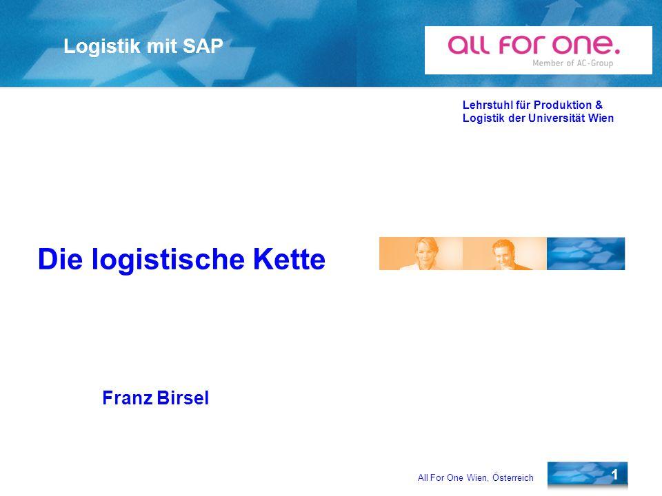 Die logistische Kette Franz Birsel
