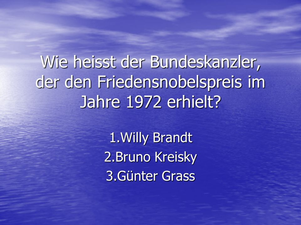 1.Willy Brandt 2.Bruno Kreisky 3.Günter Grass
