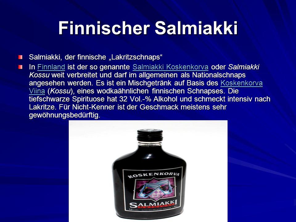 "Finnischer Salmiakki Salmiakki, der finnische ""Lakritzschnaps"
