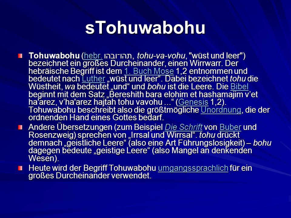 sTohuwabohu