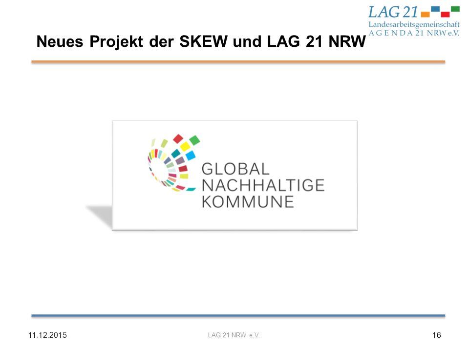 Neues Projekt der SKEW und LAG 21 NRW