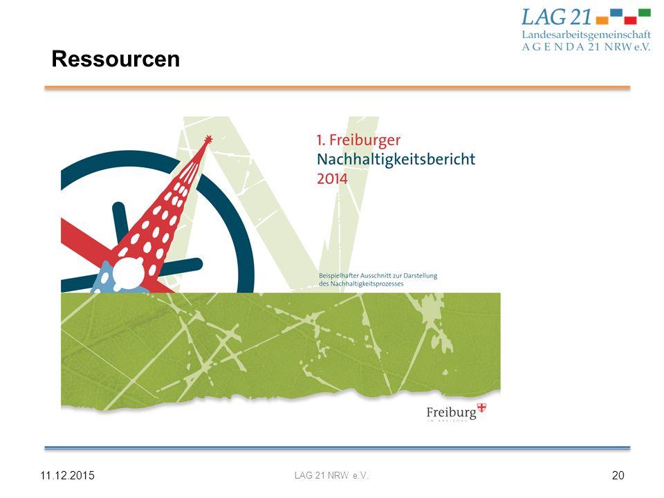 Ressourcen 11.12.2015 LAG 21 NRW e.V.