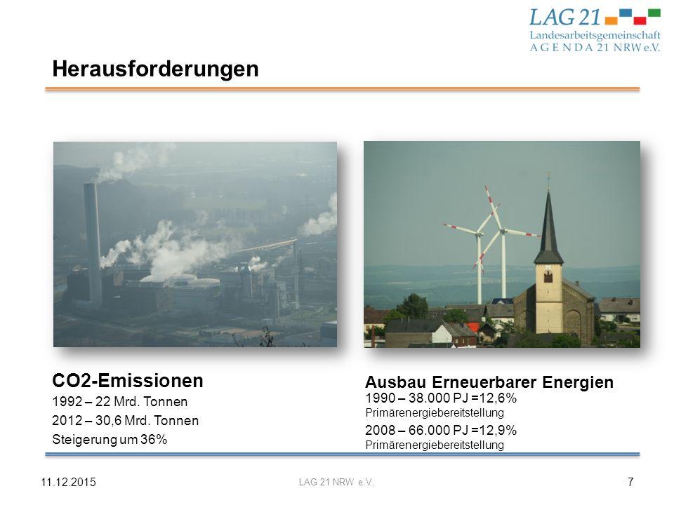 Herausforderungen CO2-Emissionen Ausbau Erneuerbarer Energien
