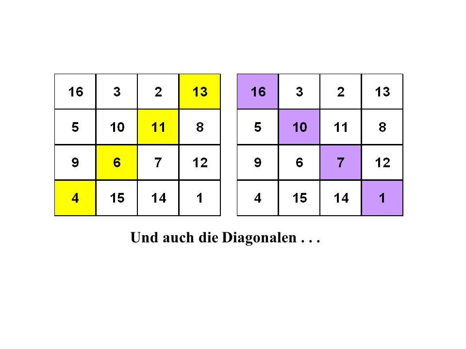 Und auch die Diagonalen . . .