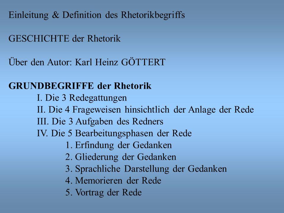 Einleitung & Definition des Rhetorikbegriffs