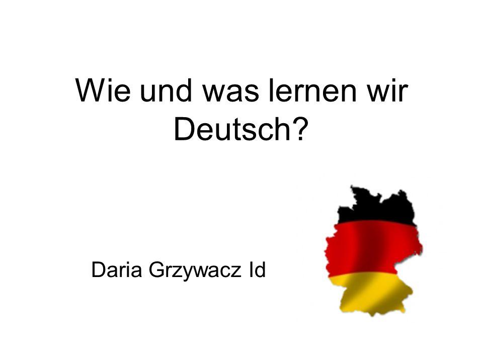 Wie und was lernen wir Deutsch