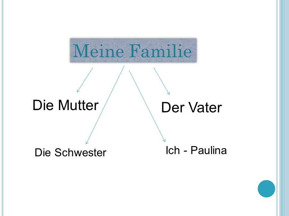 Meine Familie Die Mutter Der Vater Ich - Paulina Die Schwester