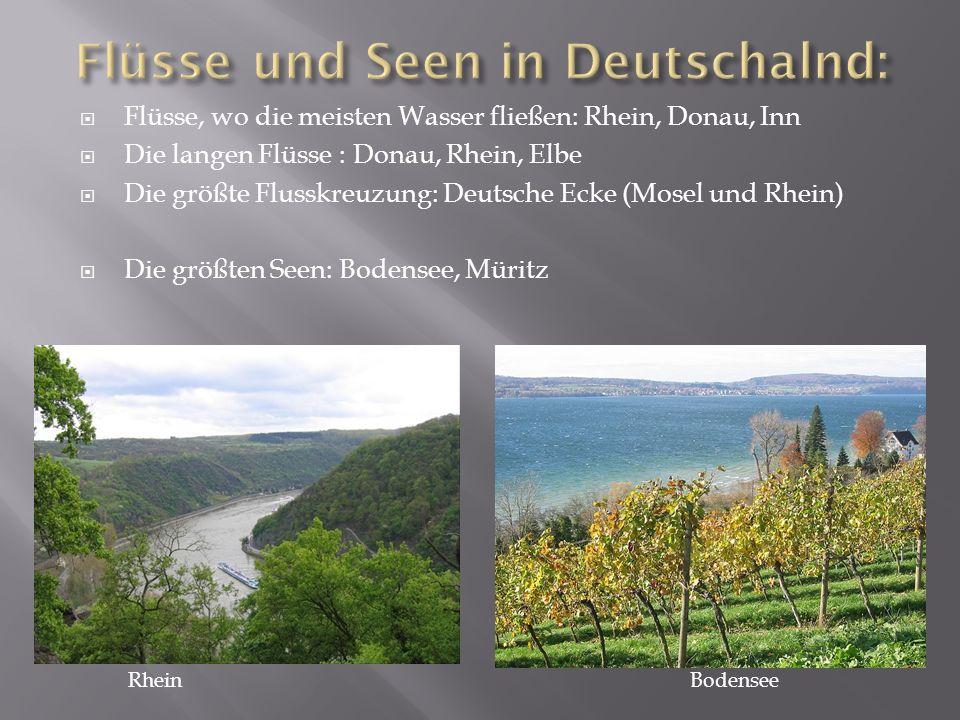 Flüsse und Seen in Deutschalnd: