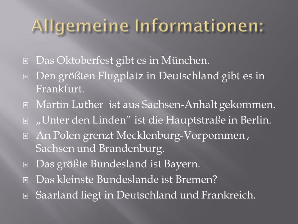 Allgemeine Informationen: