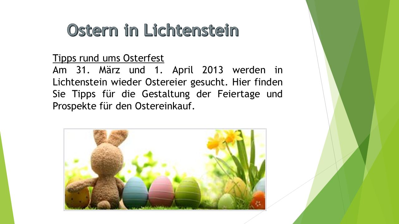 Ostern in Lichtenstein