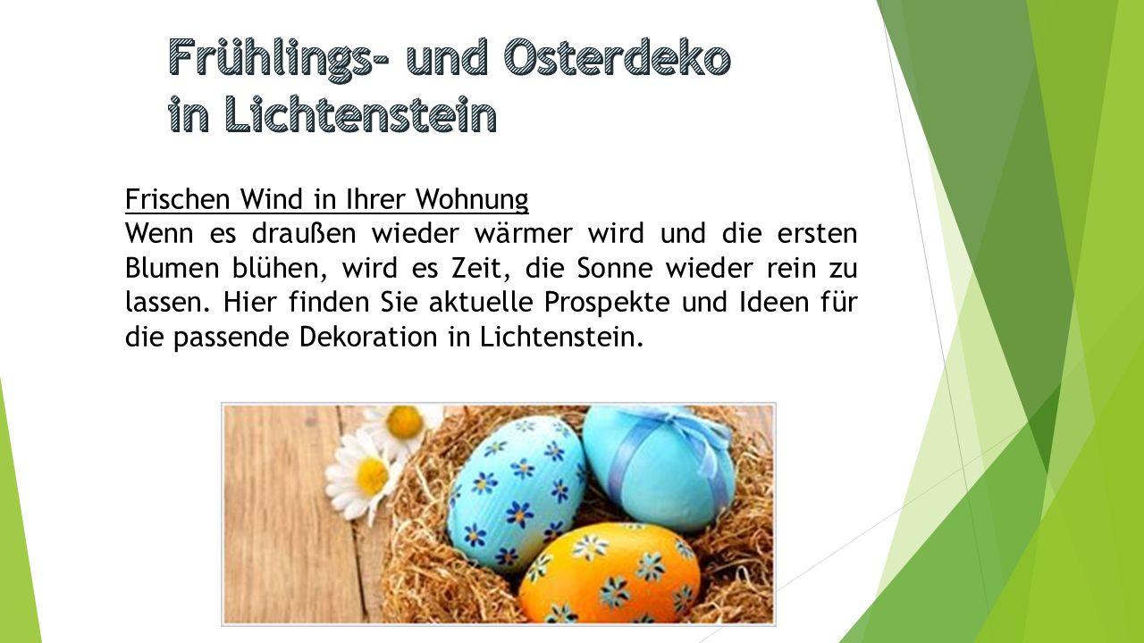 Frühlings- und Osterdeko in Lichtenstein