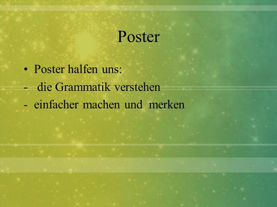 Poster Poster halfen uns: die Grammatik verstehen