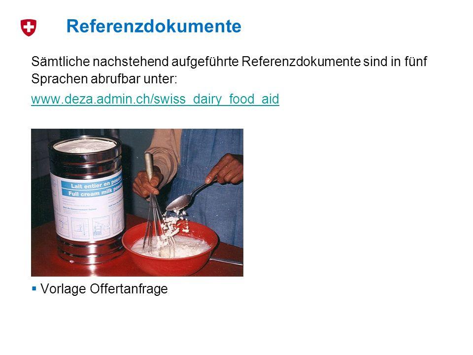 Referenzdokumente Sämtliche nachstehend aufgeführte Referenzdokumente sind in fünf Sprachen abrufbar unter: