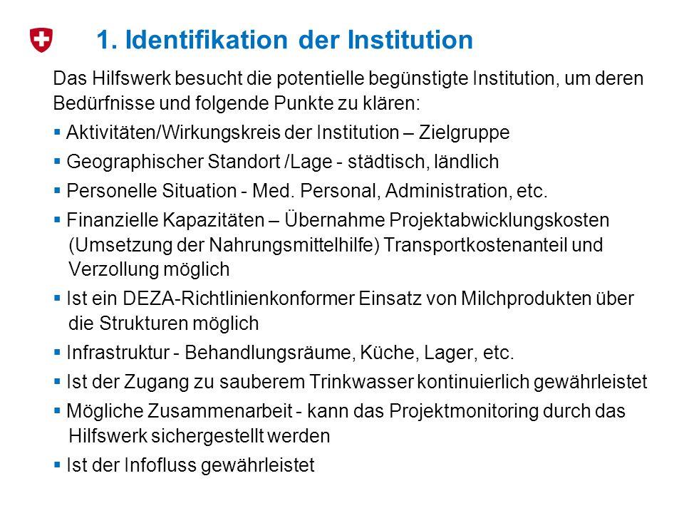 1. Identifikation der Institution