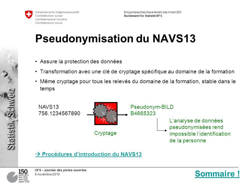 Pseudonymisation du NAVS13
