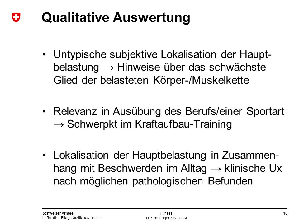 Qualitative Auswertung