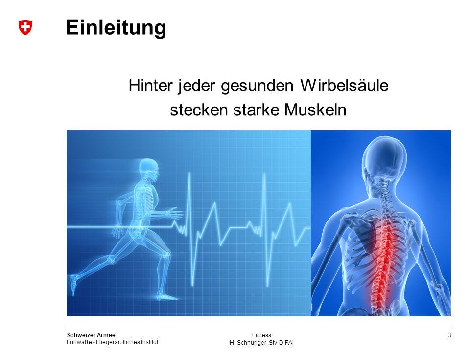 Einleitung Hinter jeder gesunden Wirbelsäule stecken starke Muskeln