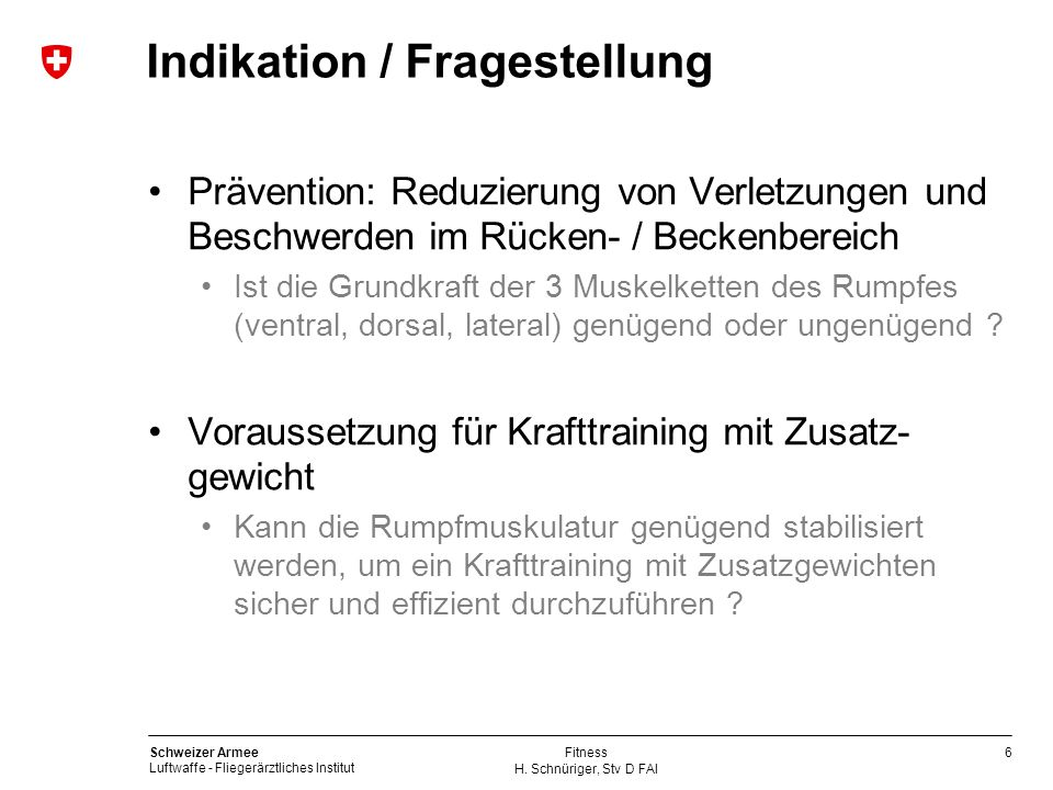 Indikation / Fragestellung