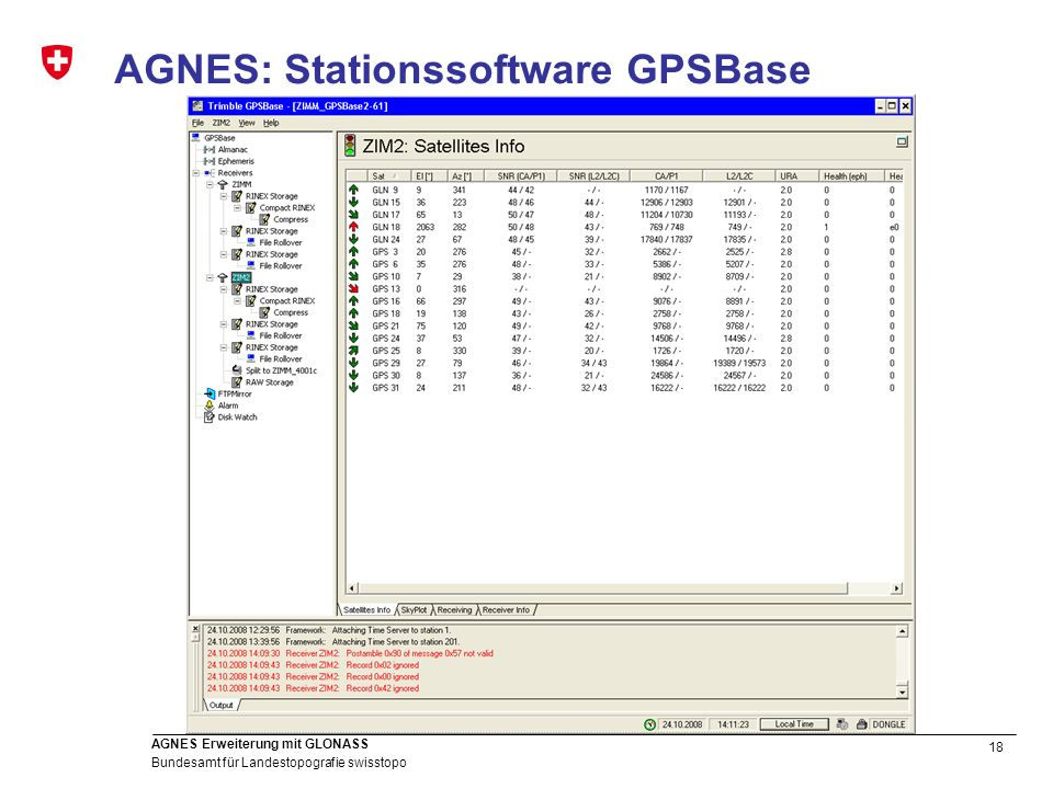 AGNES: Stationssoftware GPSBase