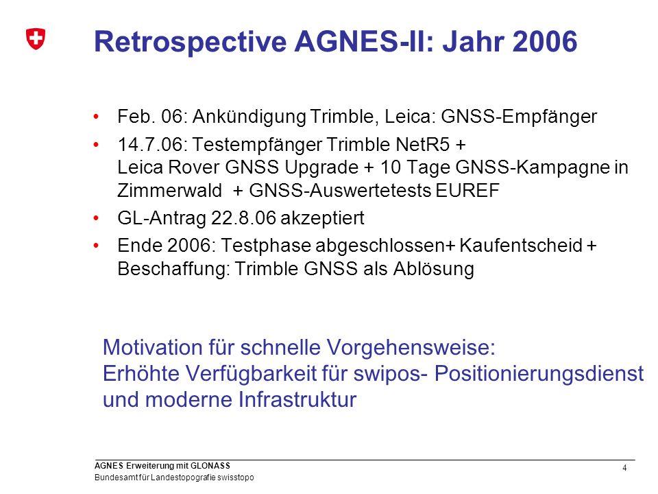 Retrospective AGNES-II: Jahr 2006