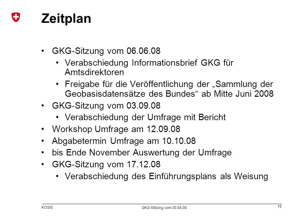 Zeitplan GKG-Sitzung vom 06.06.08