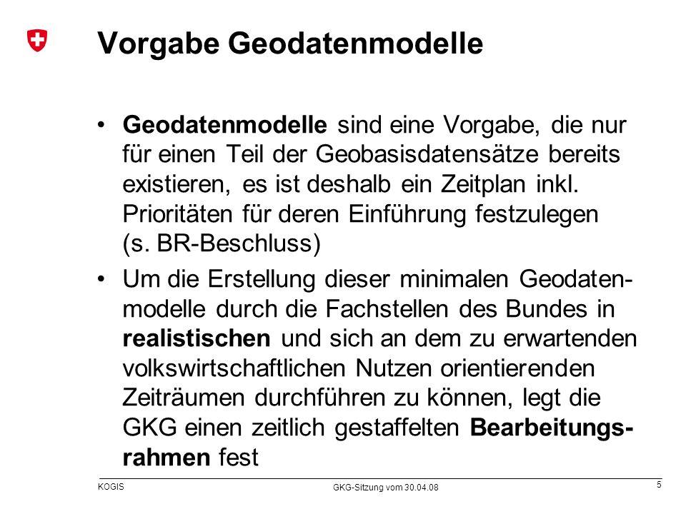 Vorgabe Geodatenmodelle